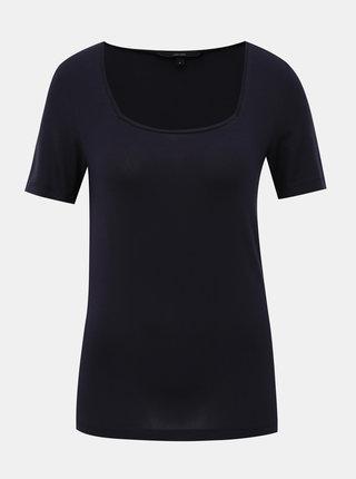 Tmavě modré basic tričko VERO MODA Ava