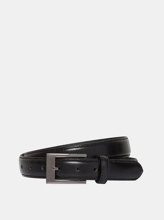 Čierny kožený opasok Burton Menswear London