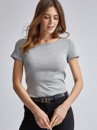 Šedé basic tričko Dorothy Perkins