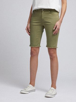 Zelené rifľové kraťasy Dorothy Perkins