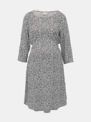 Čierno-biele tehotenské vzorované šaty Mama.licious Alica