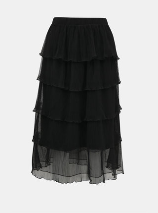 Černá midi sukně VERO MODA Mira