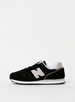 Čierne dámske semišové tenisky New Balance 373