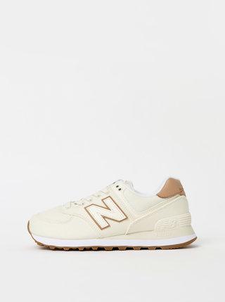 Krémové dámske kožené tenisky New Balance 574