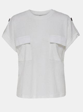 Bílé tričko s kapsami Jacqueline de Yong Lulu