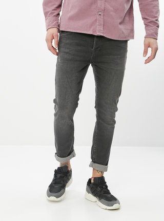 Tmavošedé slim fit rifle Jack & Jones Glenn