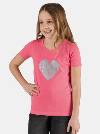 Růžové holčičí tričko s potiskem SAM 73 Yuno
