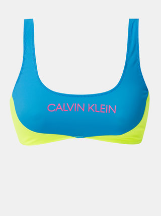 Žluto-modrý horní díl plavek Calvin Klein Underwear
