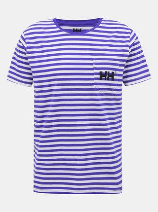 Bílo-modré pánské pruhované tričko HELLY HANSEN Fjord