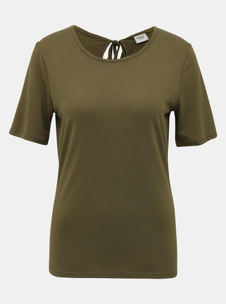 Khaki tričko Jacqueline de Yong Dalila