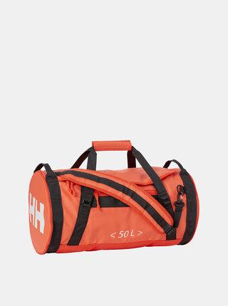 Oranžová nepromokavá cestovná taška/batoh HELLY HANSEN Duffel 50 l