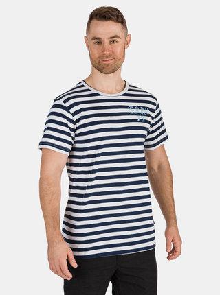 Tmavě modré pánské pruhované tričko SAM 73 Samiar