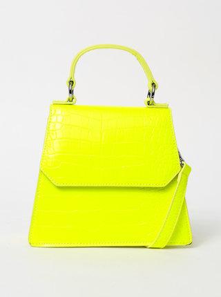Žltá crossbody kabelka s krokodýlím vzorom Pieces Nella
