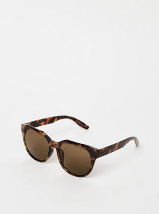 Hnědé vzorované sluneční brýle Pieces Namilla