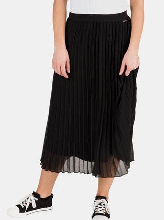 Černá dámská plisovaná midi sukně SAM 73