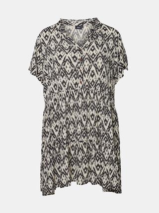 Krémovo-černé vzorované šaty Zizzi Miggy