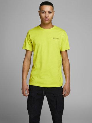 Žluté tričko s potiskem Jack & Jones Clean