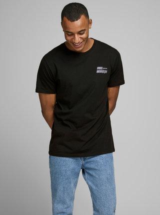 Černé tričko s potiskem Jack & Jones Clean