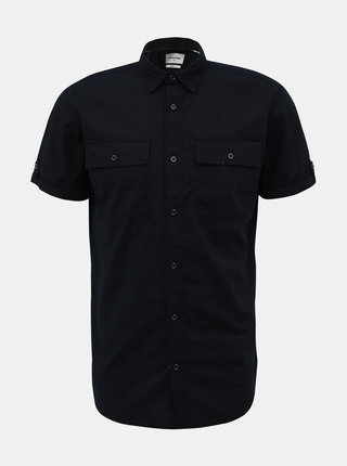 Tmavomodrá slim fit košeľa Jack & Jones Marc