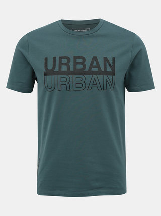Tmavomodré tričko s potlačou Jack & Jones Urbany