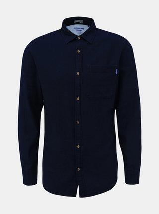 Tmavomodrá rifľová košeľa Jack & Jones Jaques