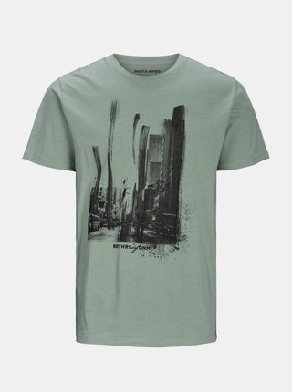 Šedé tričko s potiskem Jack & Jones Solex