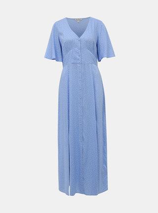Modré puntíkované maxišaty Miss Selfridge