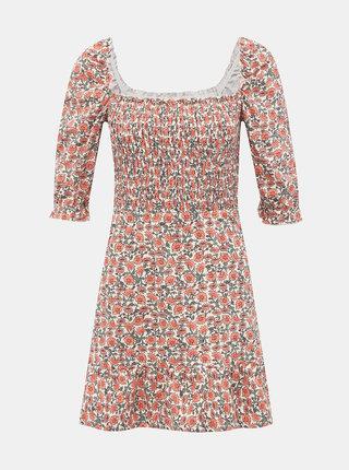 Ružové kvetované šaty Miss Selfridge