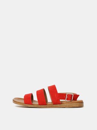 Červené semišové sandály OJJU Piso