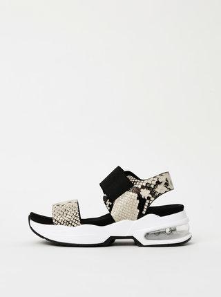 Krémové dámské sandály s hadím vzorem Xti