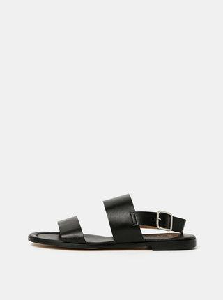 Černé kožené sandály OJJU Beta
