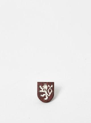 Drevená brošňa 100 rokov ČSR BeWooden