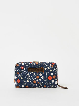 Tmavě modrá květovaná peněženka Brakeburn Disty