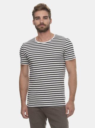 Čierno-biele pánske pruhované tričko Ragwear Paul
