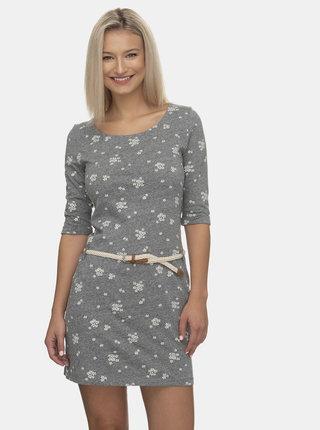 Šedé květované šaty Ragwear Tamy