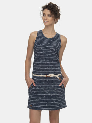 Tmavomodré vzorované šaty Ragwear Kesy
