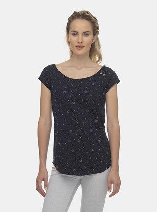 Tmavě modré dámské vzorované tričko Ragwear Rosanna