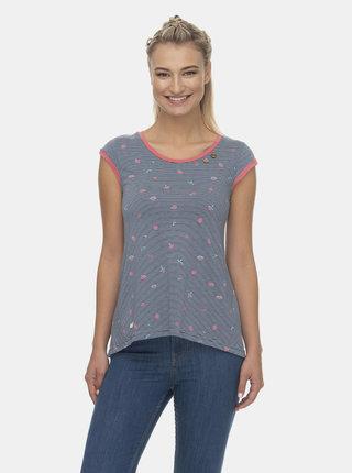 Modré dámské vzorované tričko Ragwear Dominica