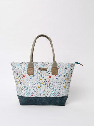 Bílá květovaná kabelka Brakeburn Medow