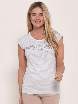 Svetlošedé pruhované tričko Brakeburn