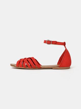 Červené kožené sandály Dorothy Perkins