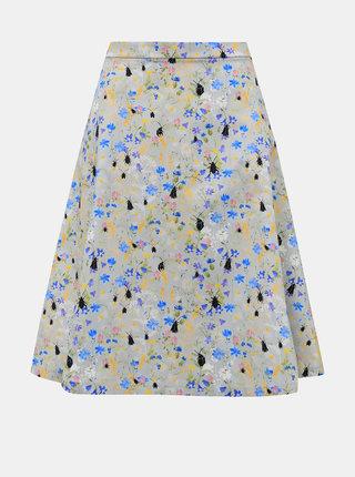 Svetlošedá kvetovaná sukňa annanemone