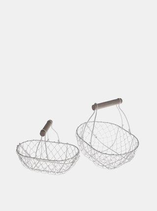 Sada dvou bílých košíků Dakls
