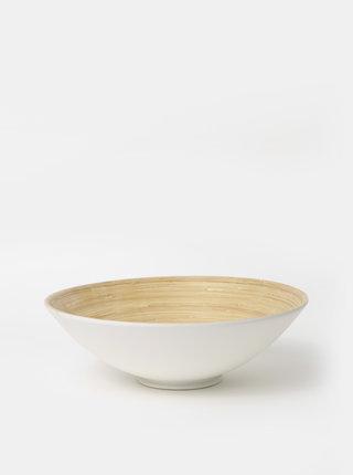 Hnědo-bílá bambusová mísa Dakls