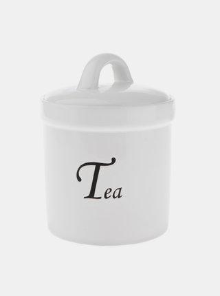 Bílá dóza na čaj Dakls