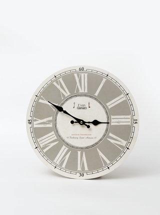 Krémové nástěnné hodiny Dakls