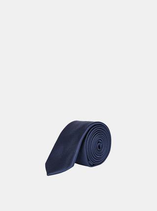Tmavomodrá kravata Burton Menswear London