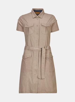Béžové košeľové šaty killtec Kadara