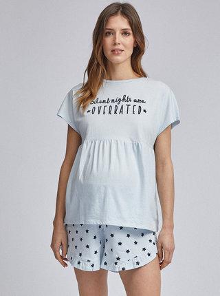 Světle modré těhotenské pyžamo Dorothy Perkins Maternity