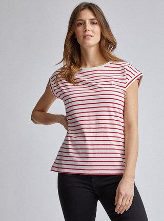 Červené pruhované basic tričko Dorothy Perkins